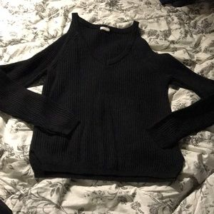 GARAGE cold shoulder sweater